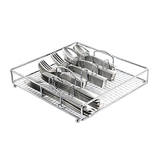Gibson Home Abbeville 61 Piece Stainless Steel Flatware Set with Wire Caddy, , large