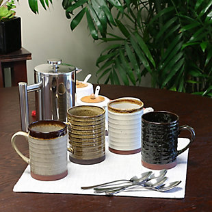 Gibson Home Terra Bella 18.5 oz Mug Set in Assorted Colors, Set of 4, , rollover