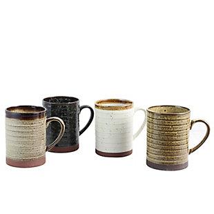Gibson Home Terra Bella 18.5 oz Mug Set in Assorted Colors, Set of 4, , large