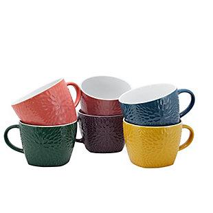 Elama Elama Garden Glee 6-Piece 18 oz. Mug Set, Assorted Colors, , large