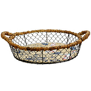 Urban Market Life on the Farm 2 Piece 14.5 in. Sheep Wire Basket Set, , large