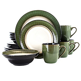 Elama Elama Grand Jade 16 Piece Luxurious Stoneware Dinnerware with Complete Setting for 4, 16pc, , large
