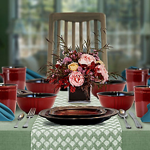 Elama Elama Regency 16 Piece Luxurious Stoneware Dinnerware with Complete Setting for 4, 16pc, , rollover