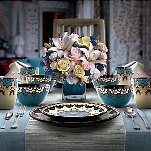 Elama Elama Clay Heart 16 Piece Luxurious Stoneware Dinnerware with Complete Setting for 4, 16pc, , rollover