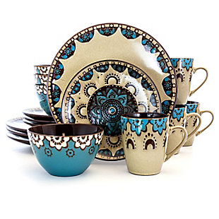 Elama Elama Clay Heart 16 Piece Luxurious Stoneware Dinnerware with Complete Setting for 4, 16pc, , large