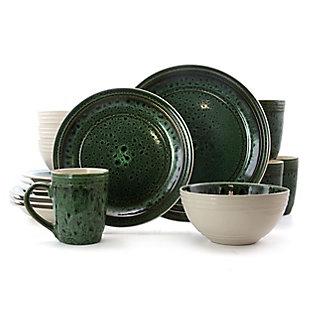 Elama Elama Blue Jade 16 Piece Luxurious Stoneware Dinnerware with Complete Setting for 4, , large