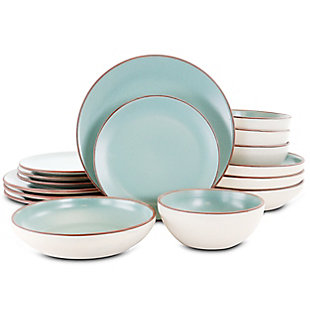 Gibson Elite Contempo Classic 16 Piece Round Terracotta Dinnerware Set in Mint, , large
