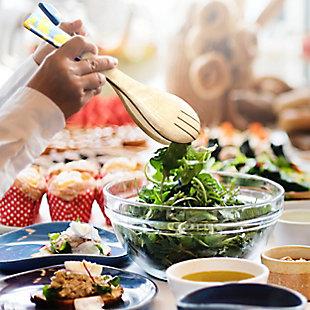 Gibson Elite Philomena 2 Piece Enamel On Wood Salad Serving Set, , rollover