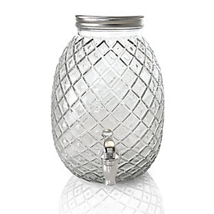 Gibson Home 1.2 Gallon Pineapple Clear Glass Drink Dispenser, , large