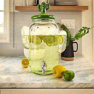 Gibson Home Cactus Cooler 1.3 Gallon Glass Drink Dispenser, , rollover