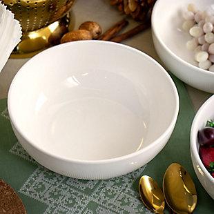 Elama Elama Deluxe Elegance 4 Piece 42 Ounce Porcelain Bowl Set in White, , rollover