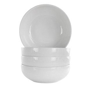 Elama Elama Deluxe Elegance 4 Piece 42 Ounce Porcelain Bowl Set in White, , large