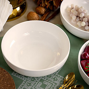 Elama Elama Daily Deluxe 4 Piece 28 Ounce Porcelain  Bowl Set in White, , rollover