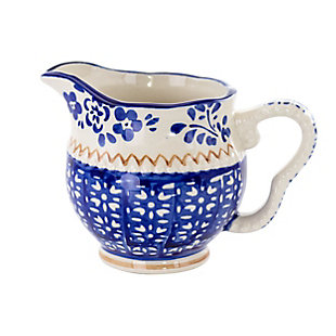 Meritage Botany 5.5 Inch 10 Ounce Stoneware Creamer in Deep Blue, , large