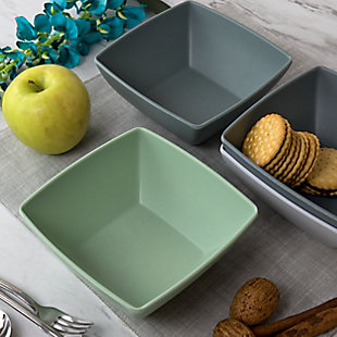 Gibson Home Grayson 4 Piece 6 Inch Melamine Bowl Set in Assorted Colors, , rollover