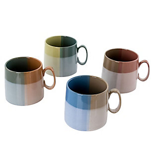 Gibson Home Glasgow 4 Piece 19.5 Ounce Fine Ceramic Cup Set in Assorted Designs, , large