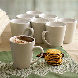 Elama Elama Amie 8 Piece 12 Ounce Porcelain Mug Set in White, , rollover