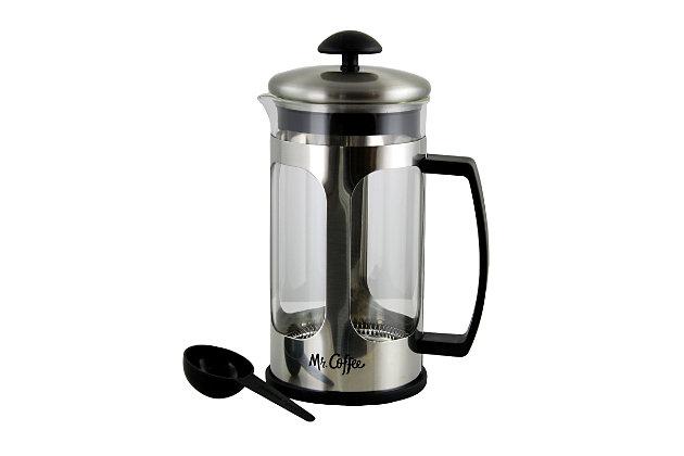 Mr. Coffee Daily Brew 1.2 Quart Coffee Press, , large