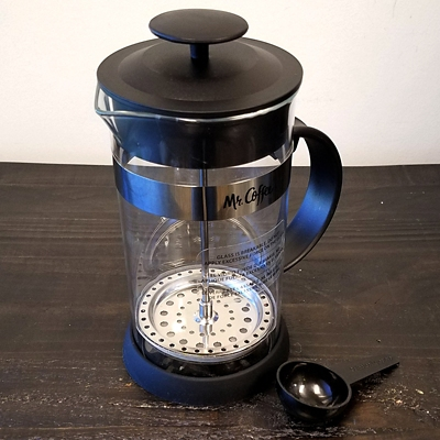 Mr. Coffee Cafe Oasis 32 Ounce Quart Glass Body French Press Coffee Maker, , large