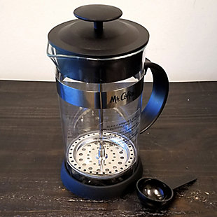 Mr. Coffee Cafe Oasis 32 Ounce Quart Glass Body French Press Coffee Maker, , rollover