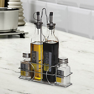 Gibson Home 4-Piece Condiment Set with Wire Caddy, , rollover