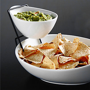 Gibson Gracious Dining 2 Tier Chip and Dip Server Set, , rollover