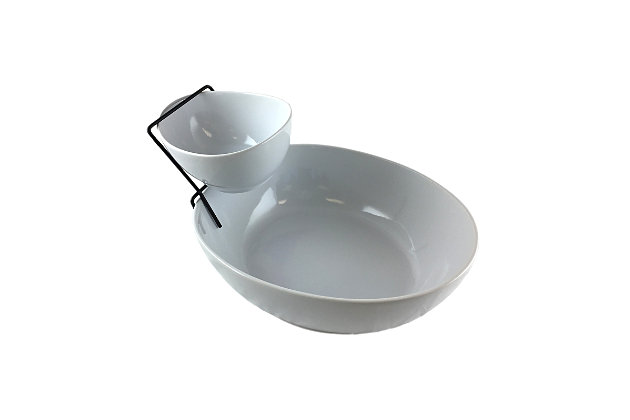 Gibson Gracious Dining 2 Tier Chip and Dip Server Set, , large