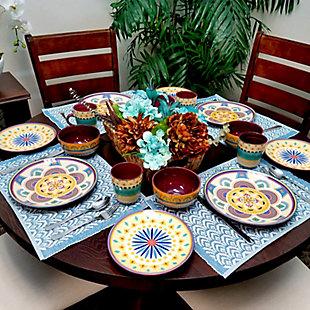 Elama Elama Puesta De Sol 16 Piece Dinnerware Set, , rollover