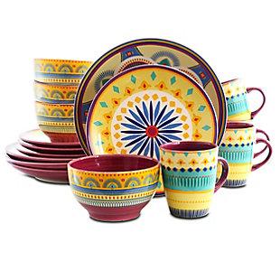 Elama Elama Puesta De Sol 16 Piece Dinnerware Set, , large