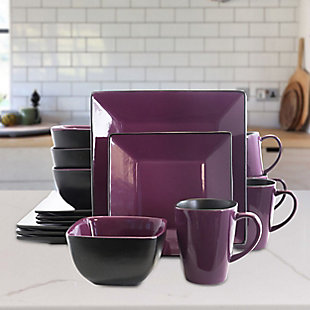 Elama Elama Mulberry Loft 16 Piece Modern Premium Stoneware Dinnerware Set with Complete Settings for 4, , rollover