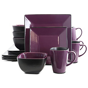 Elama Elama Mulberry Loft 16 Piece Modern Premium Stoneware Dinnerware Set with Complete Settings for 4, , large
