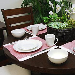 Gibson Home Ogalla 16 Piece Dinnerware Set in White, , rollover