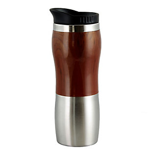 Gibson Home Monaco Cafe 15 Ounce Stainless Steel Thermal Insulated Travel Mug Cup with Lid, , large