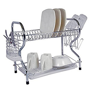 Better Chef 22-Inch Chrome Plated Dish Rack, , rollover