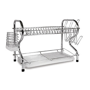 Better Chef 22-Inch Chrome Plated Dish Rack, , large