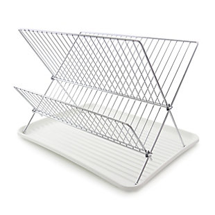 Megachef Wire Dish Rack with Plastic Tray - White, , large