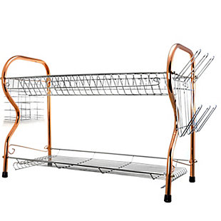 Better Chef 2-Tier 16 in. Chrome Plated Dish Rack in copper, , large