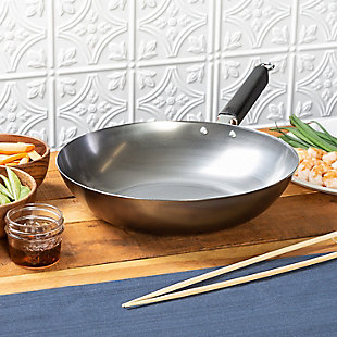 Joyce Chen Joyce Chen Professional Series 12-Inch Carbon Steel Stir Fry Pan with Phenolic Handle, , rollover