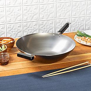 Joyce Chen Joyce Chen Professional Series 14-Inch Carbon Steel Wok with Phenolic Handles, , rollover