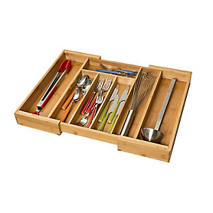 Honey-Can-Do Bamboo Cutlery Tray Expandable, , large