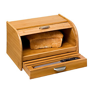 Honey-Can-Do Bamboo Bread Box, , large