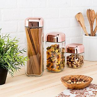 Honey-Can-Do Square Storage Jar Set (3 Piece), , rollover
