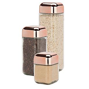 Honey-Can-Do Square Storage Jar Set (3 Piece), , large
