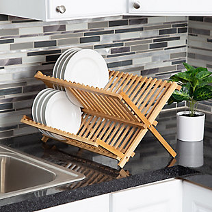 Honey-Can-Do Bamboo Dish Drying Rack, , rollover