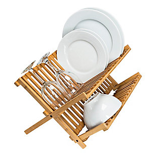 Honey-Can-Do Bamboo Dish Drying Rack, , large
