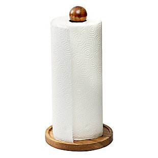 Honey-Can-Do Acacia Paper Towel Holder, , large