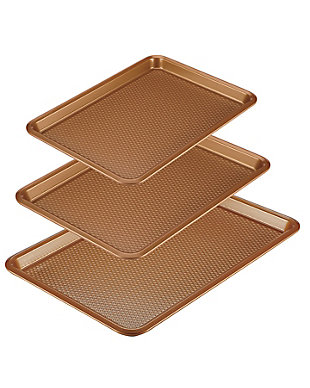 Ayesha Curry Bakeware 3-Piece Cookie Pan Set: 9 x 13, 10 x 15, 11 x 17 Cookie Pans, Copper, , large