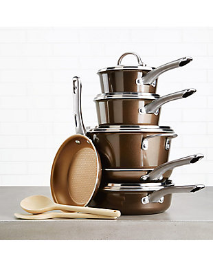 """Ayesha Curry Home Collection Cookware Brown Sugar 11.25"""" Deep Square Grill Pan, , rollover"""