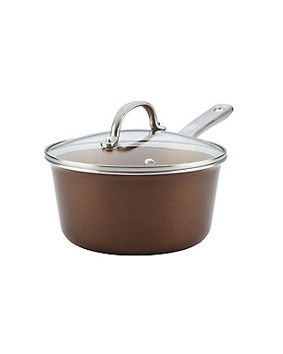 Ayesha Curry Home Collection Cookware Brown Sugar 3 Qt. Covered Saucepan, , large