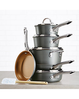 Ayesha Curry Home Collection Cookware Hard Anodized 11-Piece Set, , rollover